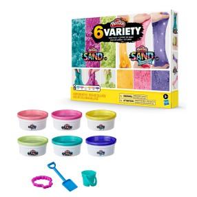 Play-Doh Sand - Piasek Syrenie kolory 6-Pak F0103