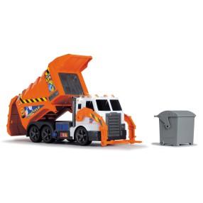 Dickie Action Series - Śmieciarka pomarańczowa z dźwiękiem i światłem 1137000