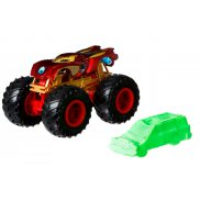 Hot Wheels Monster Trucks - Metalowy pojazd Iron Man GJD90