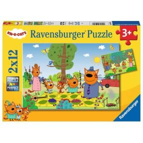 Ravensburger - Puzzle Kot-O-Ciaki 2 x 12 elem. 050796