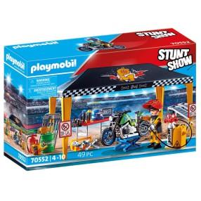 Playmobil - Pokaz kaskaderski: Namiot serwisowy 70552