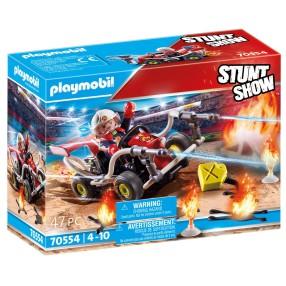 Playmobil - Pokaz kaskaderski: Gokart straży pożarnej 70554