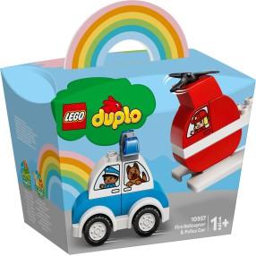 LEGO DUPLO - Helikopter strażacki i radiowóz 10957