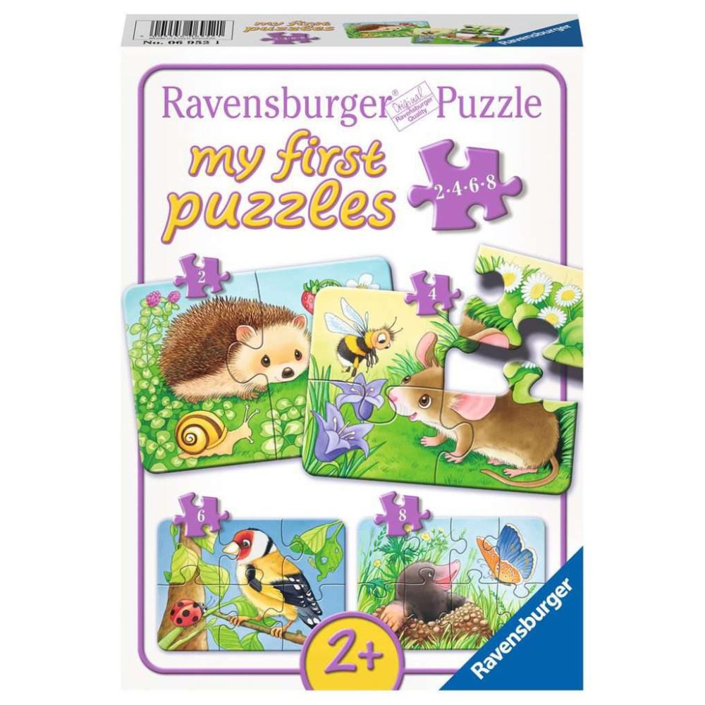 Ravensburger - Moje pierwsze puzzle Słodcy mieszkańcy ogrodów 2-4-6-8 elem. 069521