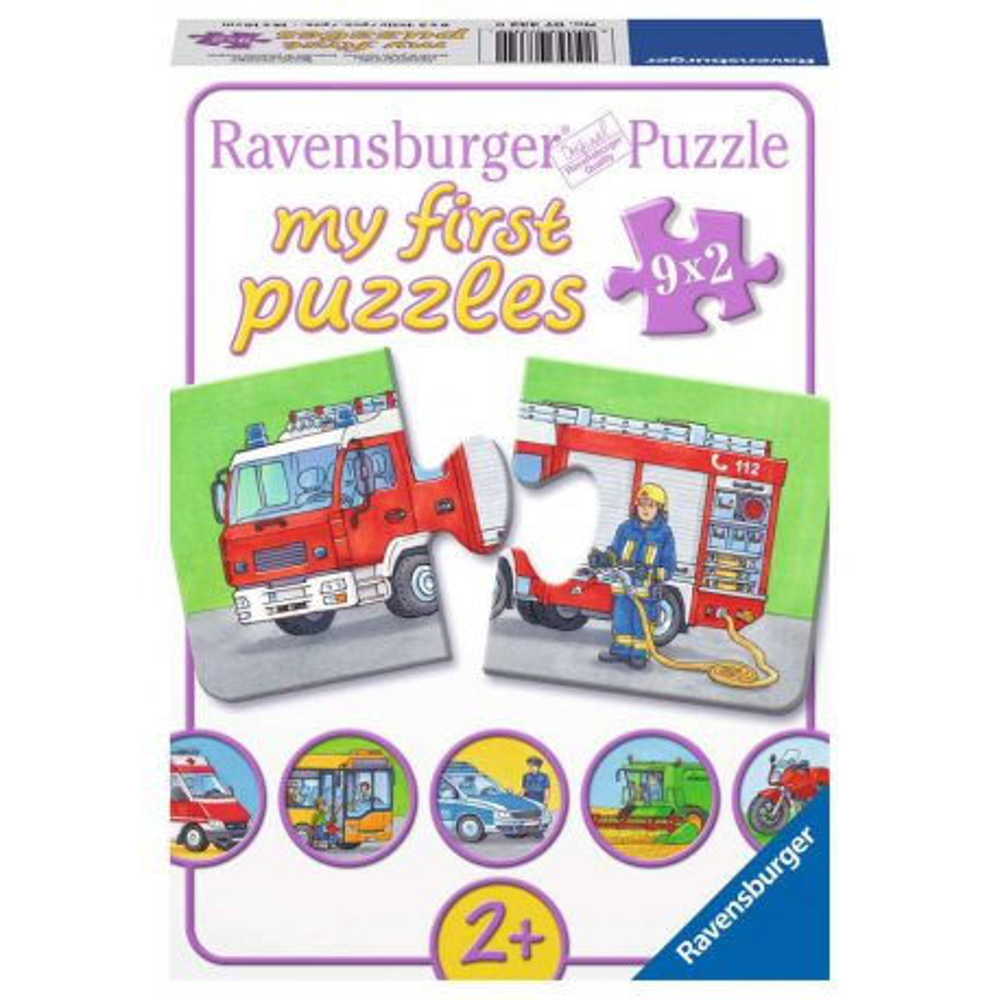Ravensburger - Moje pierwsze puzzle Pojazdy ratunkowe 9 x 2 elem. 073320