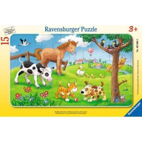 Ravensburger - Puzzle Miłośnicy słodkich zwierząt 15 elem. 060665