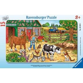 Ravensburger - Puzzle Życie na farmie 15 elem. 060351