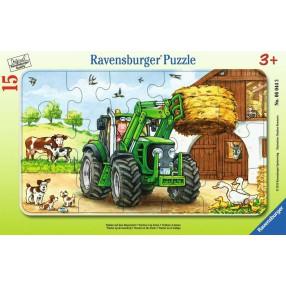 Ravensburger - Puzzle Traktor na polu 15 elem. 060443