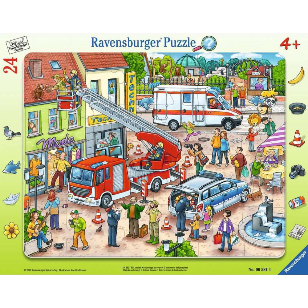 Ravensburger - Puzzle Na ratunek zwierzakom 24 elem. 065813