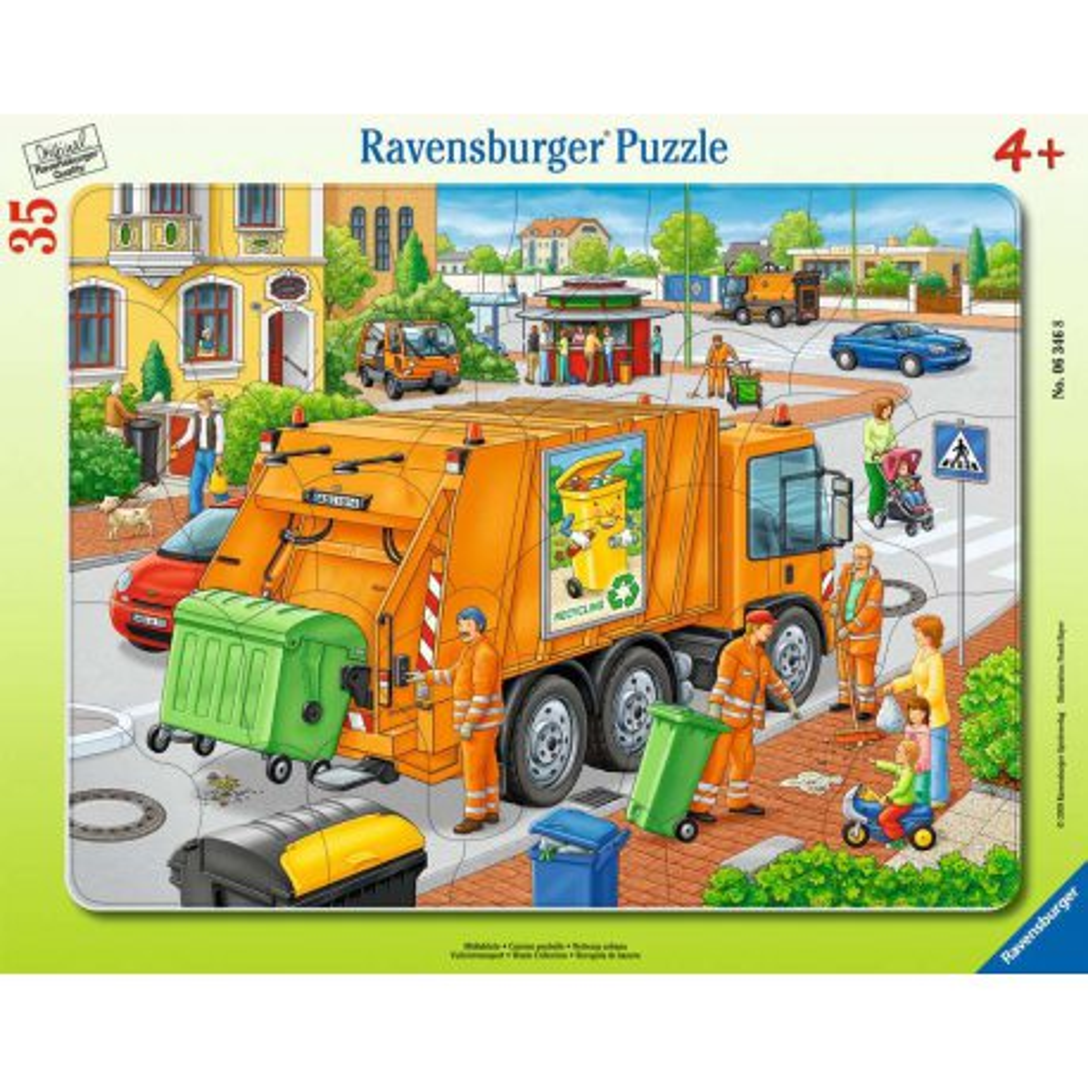 Ravensburger - Puzzle Śmieciarka 35 elem. 063468
