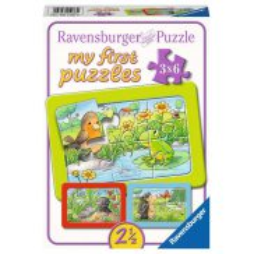 Ravensburger - Moje pierwsze puzzle Małe zwierzęta domowe 3 x 6 elem. 051380