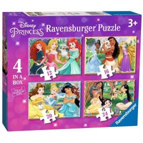 Ravensburger - Puzzle Księżniczki Disneya 4w1 12/16/20/24 elem. 030798