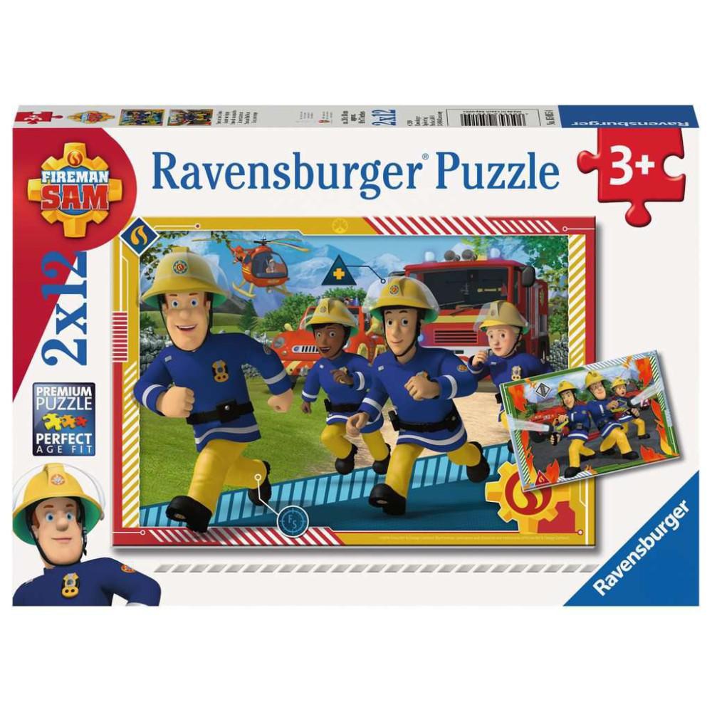 Ravensburger - Puzzle Strażak Sam i jego drużyna 2 x 12 elem. 050154