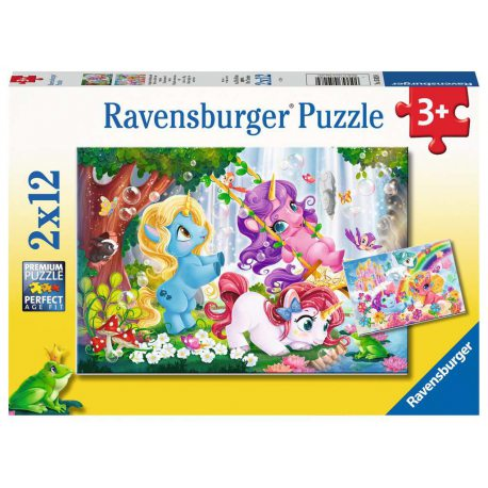 Ravensburger - Puzzle Magiczne jednorożce 2 x 12 elem. 050284