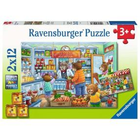 Ravensburger - Puzzle W supermarkecie 2 x 12 elem. 050765