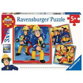 Ravensburger - Puzzle Strażak Sam na ratunek! 3x49 elem. 050772