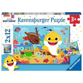 Ravensburger - Puzzle Baby Shark 2 x 12 elem. 051236
