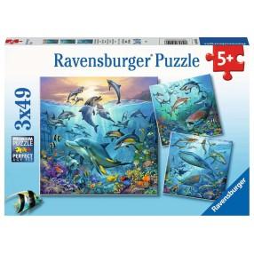 Ravensburger - Puzzle Podwodne życie 3x49 elem. 051496