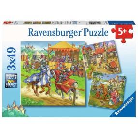 Ravensburger - Puzzle Rycerze 3x49 elem. 051502