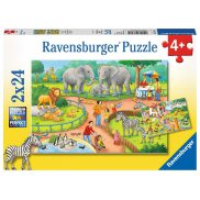 Ravensburger - Puzzle Dzień w zoo 2x24 elem. 078134