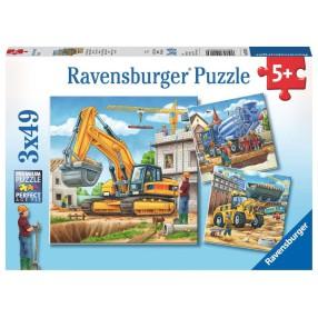 Ravensburger - Puzzle Duże pojazdy budowlane 3x49 elem. 092260