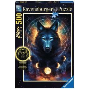 Ravensburger - Puzzle Świecące w ciemności Wilk i księżyce 500 elem. 139705