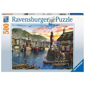 Ravensburger - Puzzle Poranek w porcie 500 elem. 150458