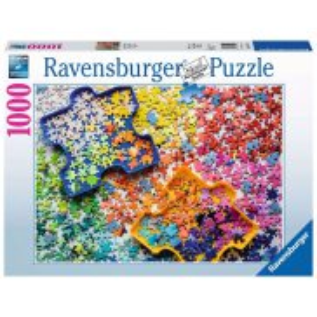 Ravensburger - Puzzle Kolorowe częsci puzzli 1000 elem. 152742