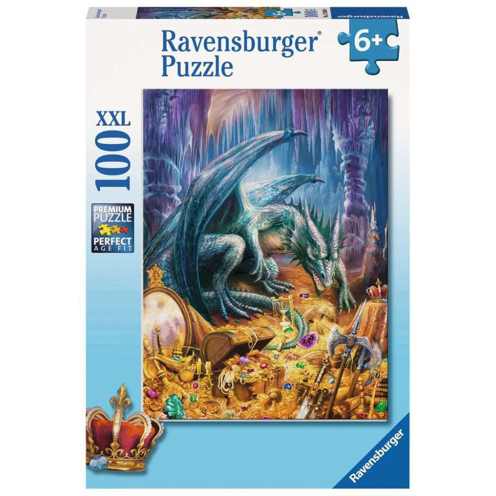 Ravensburger - Puzzle XXL Smok w jaskini 100 elem. 129409