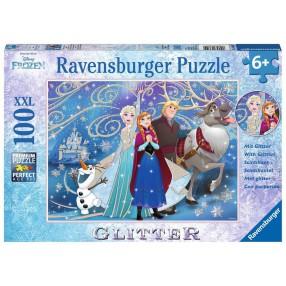 Ravensburger - Puzzle XXL Kraina Lodu Błyszczący śnieg 100 elem. 136100