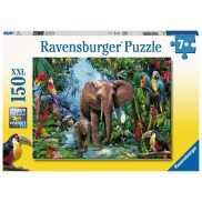 Ravensburger - Puzzle XXL Słonie w dżungli 150 elem. 129010