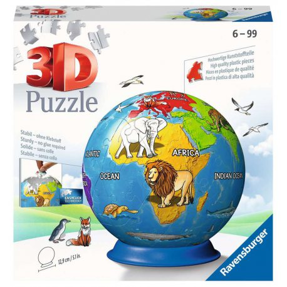 Ravensburger - Puzzle 3D Kula Dziecinny globus 72 elem. 118403
