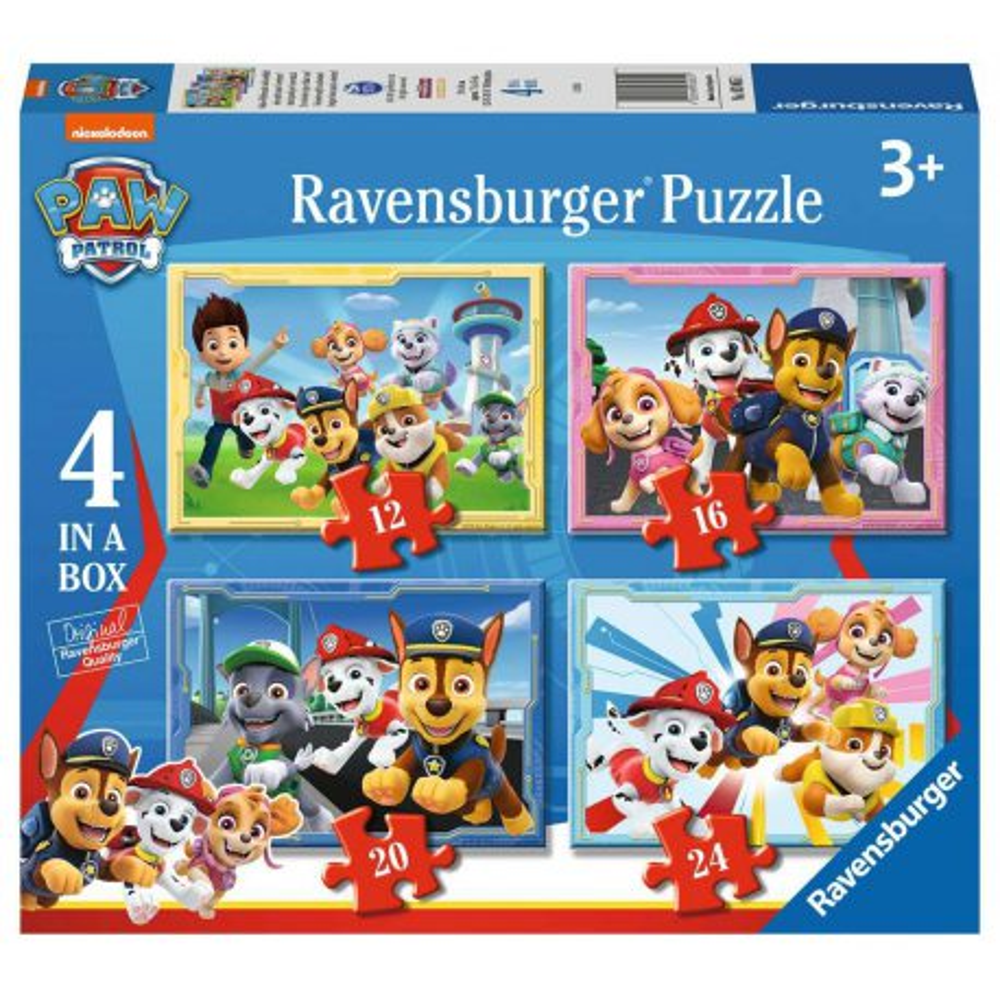 Ravensburger - Puzzle Psi Patrol 4w1 12/16/20/24 elem. 030651