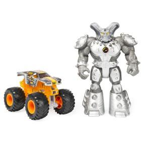 Spin Master Monster Jam Creatures - Superterenówka Max-D Maximum Destruction w skali 1:64 + Figurka Maximus 20121073