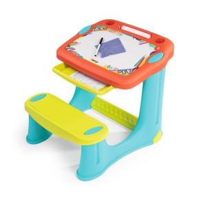 Smoby - Magiczny Stolik z tablicą do rysowania Biurko Ławeczka + Akcesoria 420221