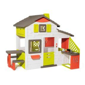 Smoby - Domek Neo Friends House z dzwonkiem, ogródkiem i kuchnią 810202