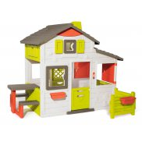 Smoby - Domek Neo Friends House z dzwonkiem i ogródkiem 810203