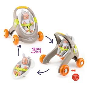 Smoby MiniKiss - Chodzik wózek dla lalki Animal 3w1 210206