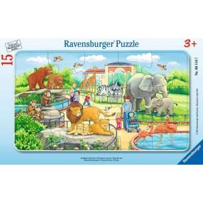 Ravensburger - Puzzle Wycieczka do zoo 15 elem. 061167