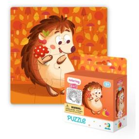 Dodo - Puzzle + Kolorowanka 2w1 Jeżyk 16 el. 300119