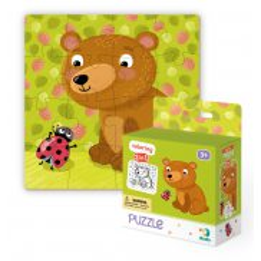 Dodo - Puzzle + Kolorowanka 2w1 Misiek 16 el. 300120