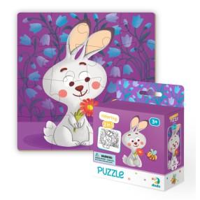 Dodo - Puzzle + Kolorowanka 2w1 Zajączek 16 el. 300121