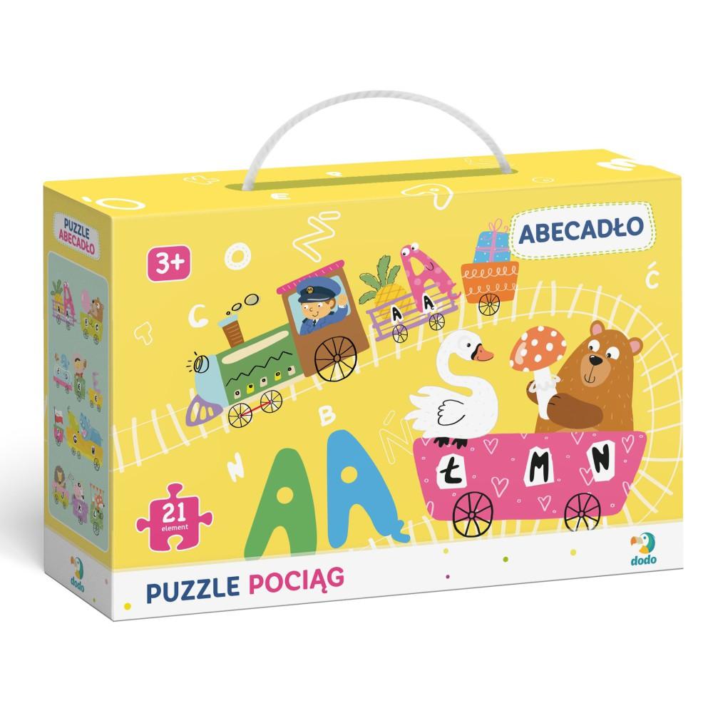 Dodo - Puzzle Pociąg Abecadło wer. PL 21 el. 300149