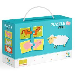 Dodo - Puzzle Duo Zwierzęta 12x2 el. 300115