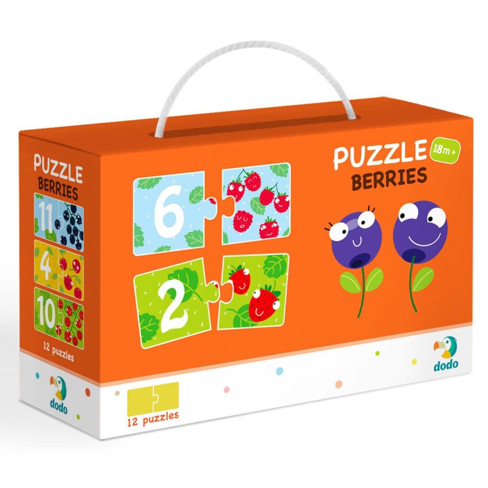 Dodo - Puzzle Duo Cyferki Jagódki 12x2 el. 300116