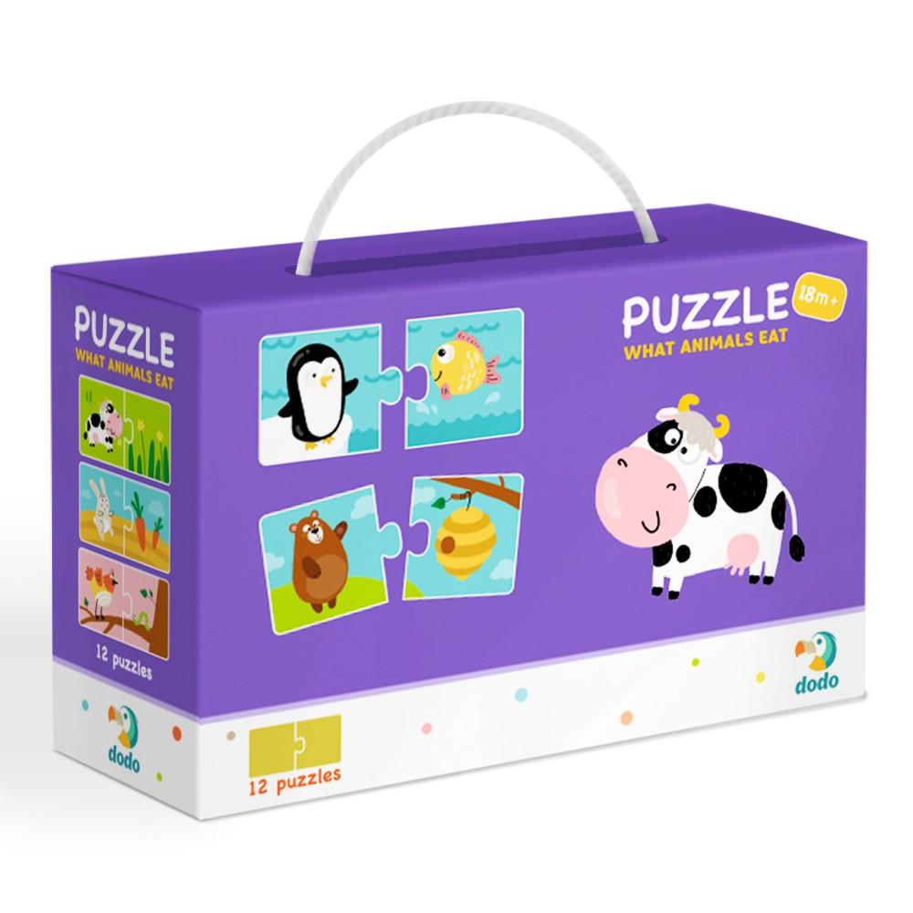 Dodo - Puzzle Duo Co Jedzą Zwierzęta 12x2 el. 300118
