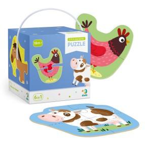 Dodo - Moje Pierwsze Puzzle 6w1 Zwierzęta Domowe 2-3-4 el. 300152