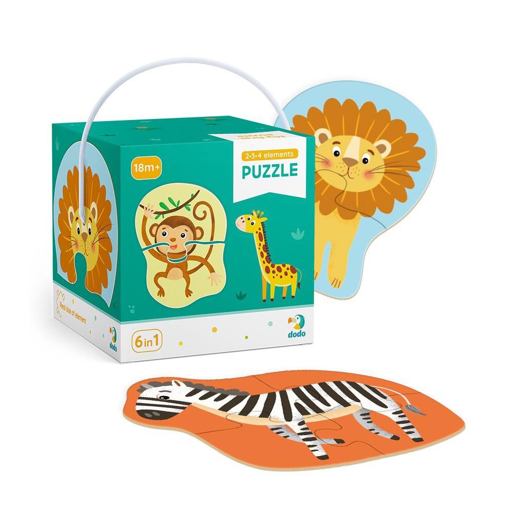 Dodo - Moje Pierwsze Puzzle 6w1 Zwierzęta 2-3-4 el. 300153