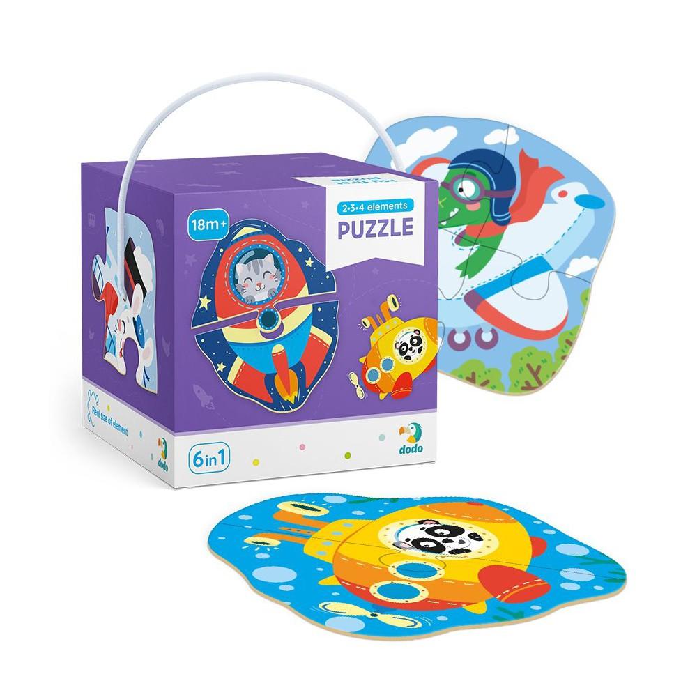 Dodo - Moje Pierwsze Puzzle 6w1 Transport 2-3-4 el. 300154