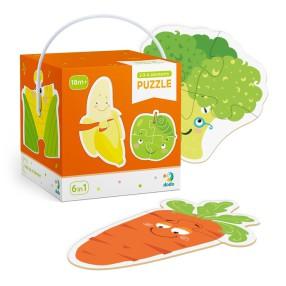 Dodo - Moje Pierwsze Puzzle 6w1 Owoce i Warzywa 2-3-4 el. 300155